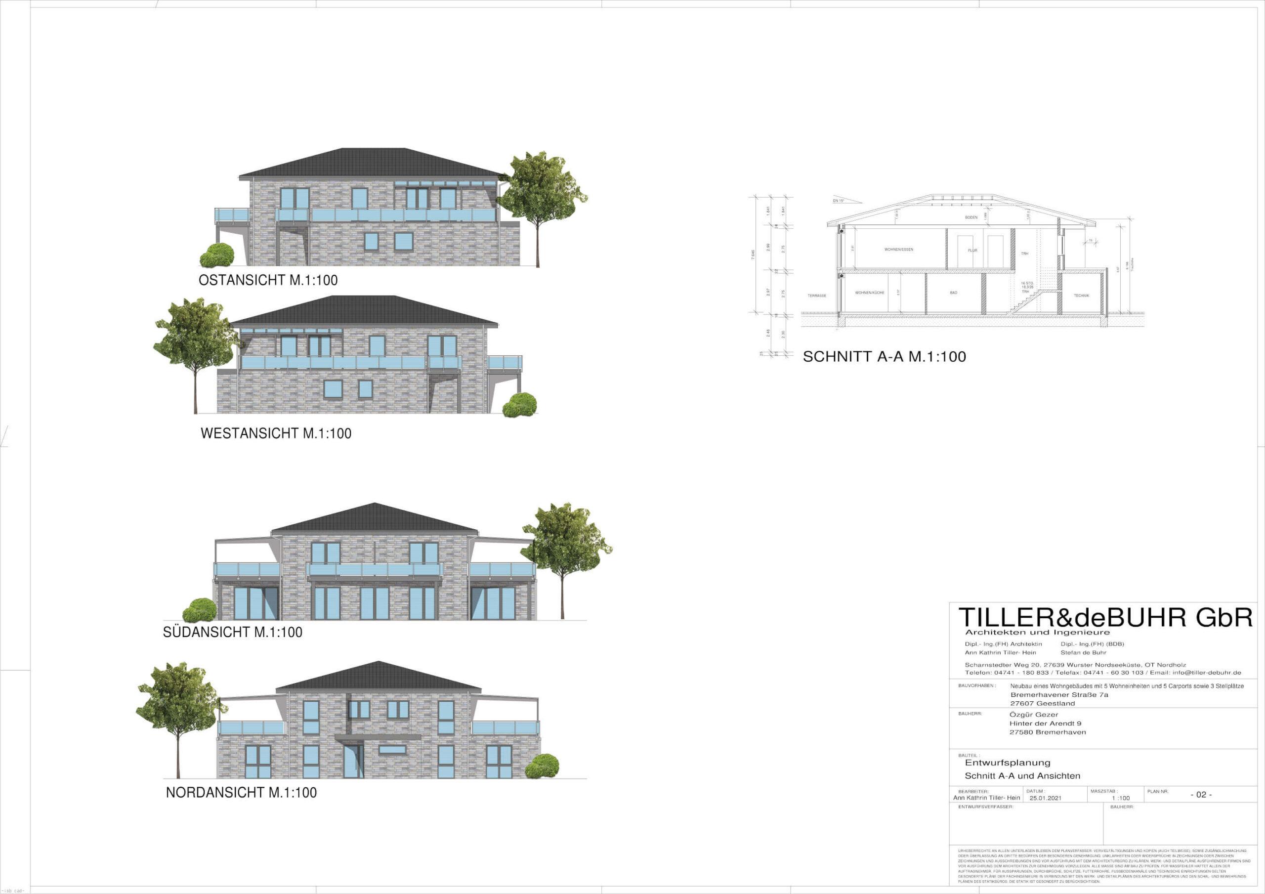 Visualisierung Familienhaus Geestland
